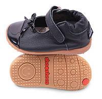 Туфли из натуральной кожи SHOOSHOOS SMY5 Black Black / Bow Smiley (размер 6)
