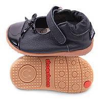 Детские туфли из натуральной кожи SHOOSHOOS SMY5 Black Bow Smiley