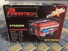 Генератор бензиновый 3-х фазный Германия Powertech PT6500W 4,5 кв