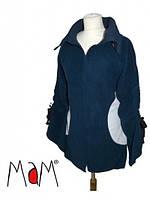 Флисовое пальто-туника для беременных и слингоношения MaM (размер L/XL, темно-синий)