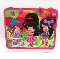 """Папка-портфель детская с ручками """"Little girls"""""""