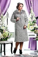 ДАМИНА  Женское зимнее пальто больших размеров 50-60