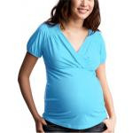 Футболка с запахом для беременных и кормящих GapMaternity OLD NAVY ( голубая,размер S)