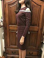 Костюм-двойка - юбка и кофта с голым плечом, разные цвета, S,M,L р-ры, 360/330 (цена за 1 шт.+ 30 гр)