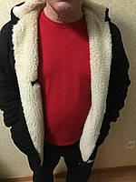 Мужское худи-толстовка на меху в супер большом размере, фото 1