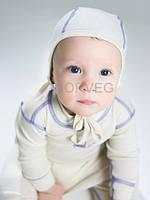 Чепчик из шерсти мериноса для младенцев Soft NORVEG (молочный, размер 56/62)