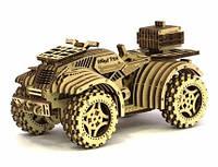 Конструктор Деревянный Механический 3Д Квадроцикл в коробке 137 дет. 14+ Wood Trick Украина