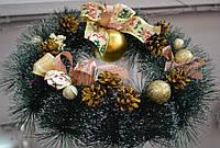 Рождественский веночек с оформлением в золотом цвете   SV/GL