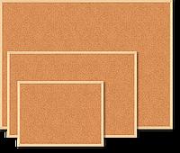 Пробковая доска buromax bm.0015 jobmax 90х120см с деревянной рамкой