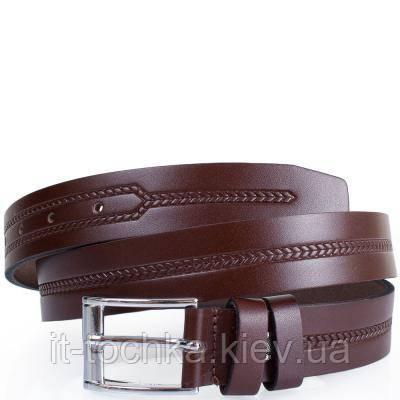 Мужской кожаный ремень y.s.k. shi1930-2 коричневый
