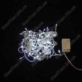 Гирлянда домашняя, 100 светодиодов, 7 метров, белый свет, белый провод