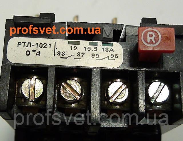 фотография тепловое реле ртл-1021 регулировка тока 13-19а Этал