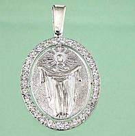 Срібний підвісок з цирконом