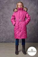 Куртка зимняя на девочку + зимняя шапка в подарок, Реплика