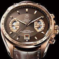 Часы Tag Heuer Carrera calibre 17 Rose gold, механические, мужские