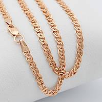 """Серебряный браслет """"Нонна"""", длина 18.5 см, ширина 3 мм, вес 2.31 г, позолота 585 пробы"""
