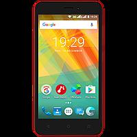 Смартфон 5 дюймов 4 ядра 1/8Gb на 2 сим карты Prestigio Wize G3 красный