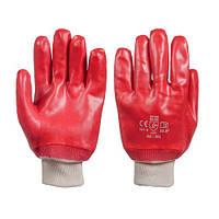Перчатки рабочие с ПВХ покрытием, маслобензостойкие