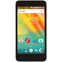 Смартфон 5 дюймов 4 ядра 1/8Gb на 2 сим карты Prestigio Wize G3 золотой