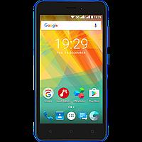 Смартфон 5 дюймов 4 ядра 1/8Gb на 2 сим карты Prestigio Wize G3 синий