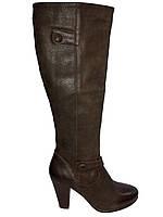 Сапоги женские кожаные демисезонные коричневые Kati 51007