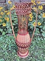 """Плетеная ваза """"Амфора"""" , фото 1"""