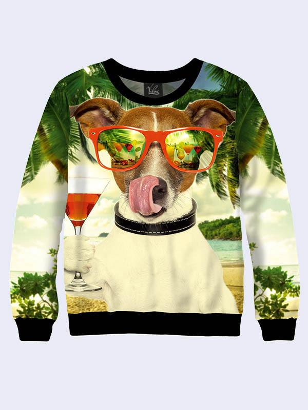 Женский свитшот Собака в очках