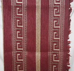 Комплект покрывала (дивандеки) Египет красный на большую кровать и два кресла евроразмера, фото 2