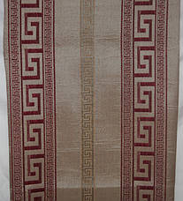 Комплект покрывала (дивандеки) Египет красный на большую кровать и два кресла евроразмера, фото 3