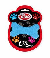 Игрушка для собак Кость жевательная PetNova 10.5 см синий