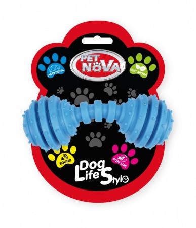 Игрушка для собак Гантель SuperDent Pet Nova 12 см синий