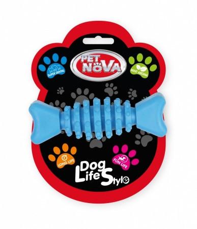 Игрушка для собак Косточка SuperDent Pet Nova 12 см синий