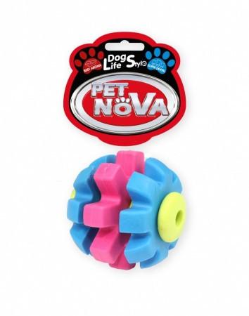 Іграшка для собак М'яч SuperDent Pet Nova 7 см кольоровий