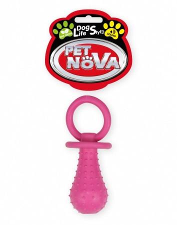 Игрушка для собак Соска с колокольчиком Pet Nova 14 см розовый