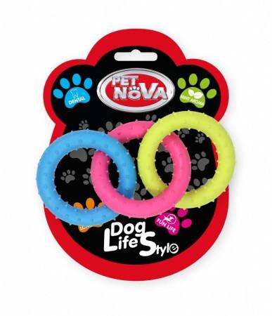Игрушка для собак Кольца комбинированные Pet Nova 18.5 см