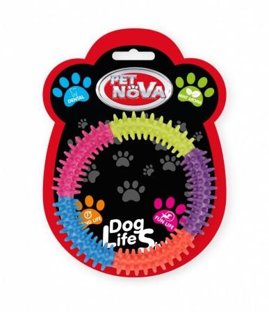 Игрушка для собак Pet Nova Кольцо для зубов 15 см многоцветный