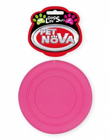 Игрушка для собак Фрисби Pet Nova 18 см розовый