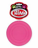 Игрушка для собак Фрисби PetNova 18 см розовый