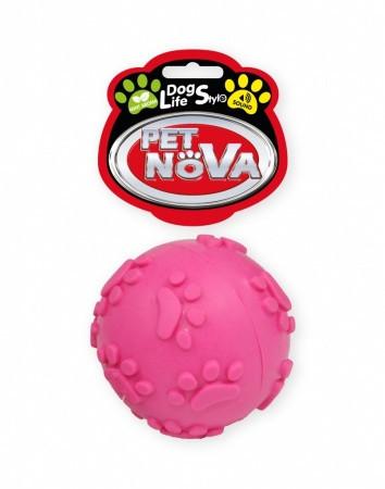 Игрушка для собак Мячик звонкий Pet Nova 6 см розовый