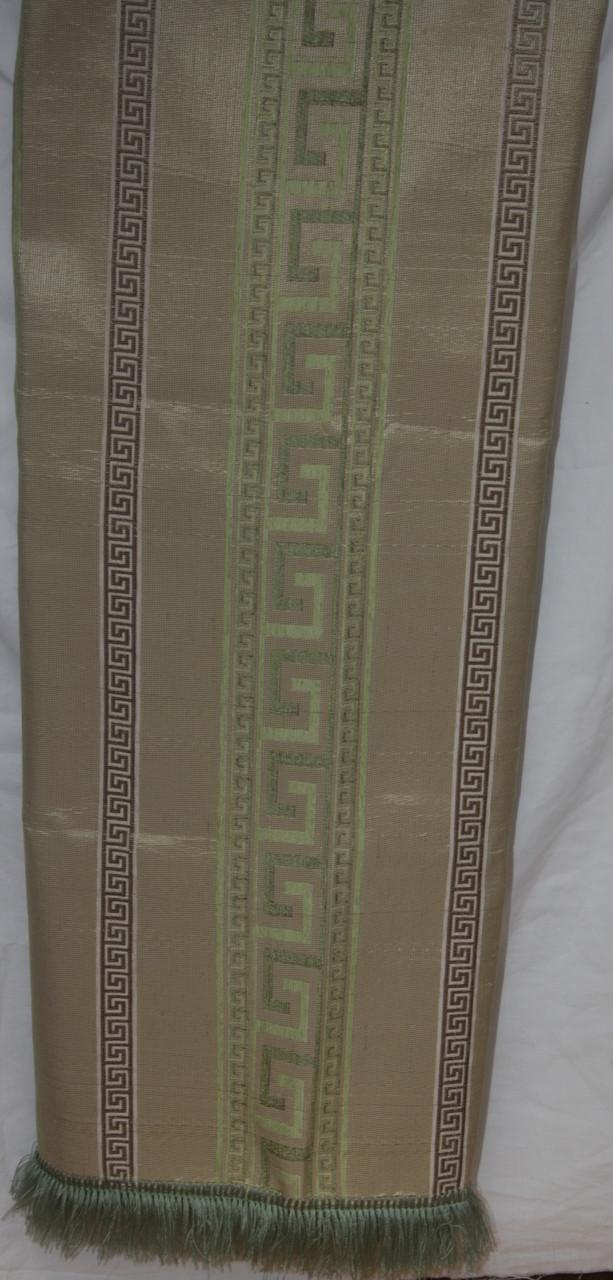 Комплект покрывала (дивандеки) Египет оливковый на большую кровать и два кресла евро размера
