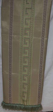 Комплект покрывала (дивандеки) Египет оливковый на большую кровать и два кресла евро размера, фото 2
