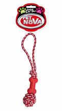 Игрушка для собак Кость на веревке Pet Nova 40 см