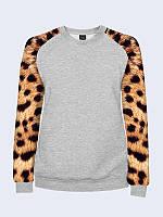 Женский свитшот Леопардовый принт