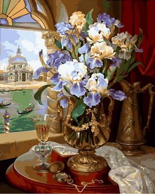 VP867. Набор-раскраска по номерам Венецианские ирисы, фото 2