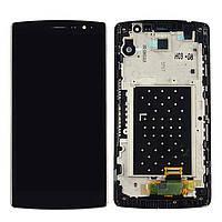 Дисплей (экран) для LG H522Y G4c с сенсором (тачскрином) и рамкой черный, фото 2