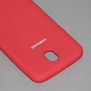 Силиконовый чехол на Samsung J7 730 (2017) Soft-touch Red, фото 2