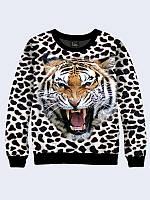 Женский свитшот Леопардовый тигр