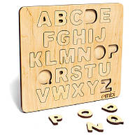 Деревянная рамка - вкладыш Алфавит (абетка) английский ТМ Емби