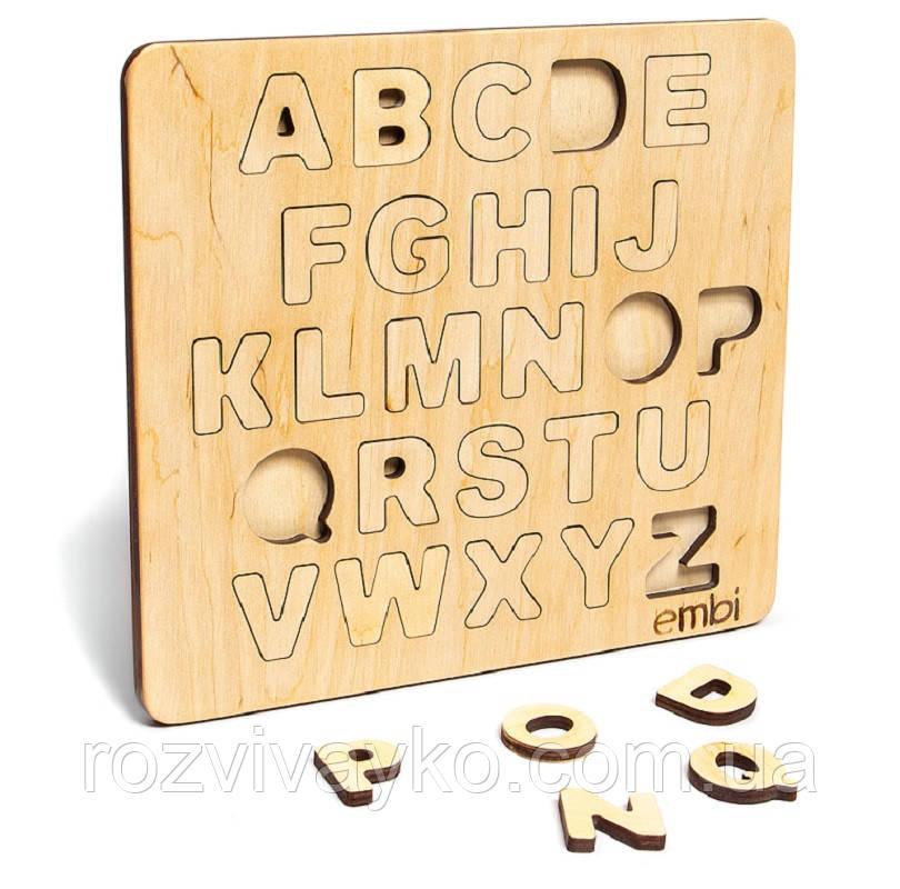 Деревянная рамка - вкладыш Алфавит