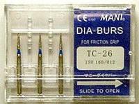 Стоматологические боры TC - 26 MANI (TC - 26 MANI DIA-BURS)